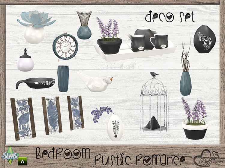 Rustic Romance Decor Set / TS4 CC