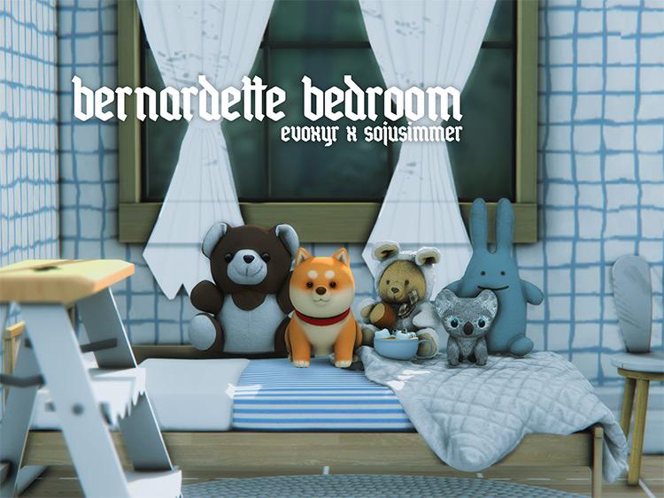 Bernardette Stuffed Animals Clutter / Sims 4 CC