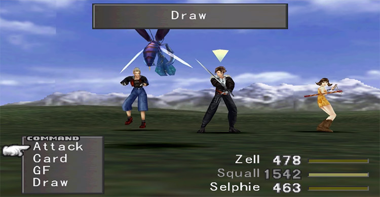 Card Draw in battle / FF8 Remastered