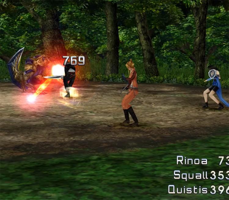 In-game battle Screenshot / FF8 Remastered