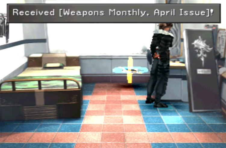 Getting April Weapons Monthly Issue / FF8 Screenshot