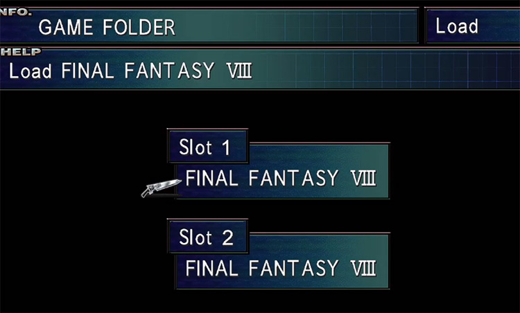 Loading Save Files / FF8 Remastered