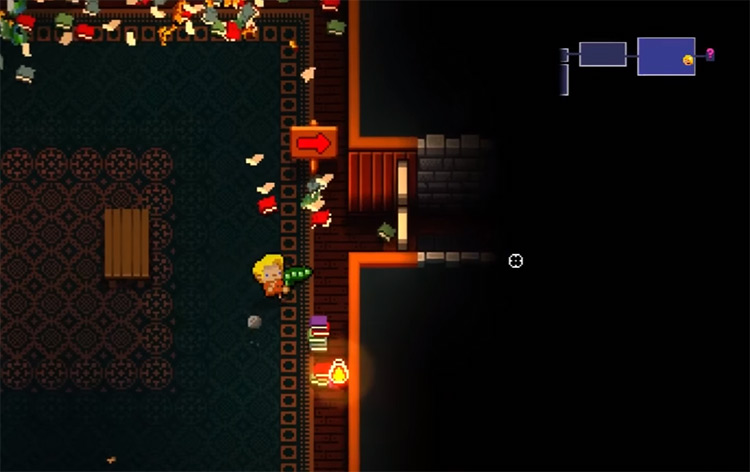 Playing as The Convict in Enter the Gungeon