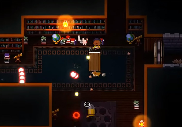 Playing as The Hunter in Gungeon
