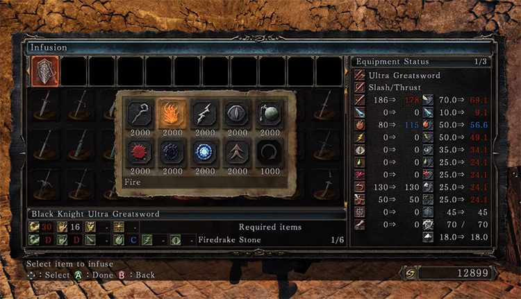 Fire Stone Infusion Menu in DS2