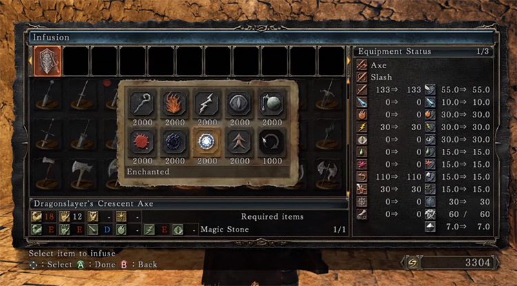Enchanted Infusion Menu in DS2