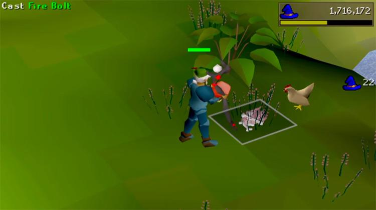 Splashing Magic Training Screenshot in OSRS