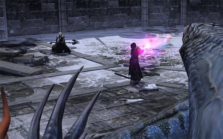 Ascian casting spell in a cutscene / FFXIV Screenshot