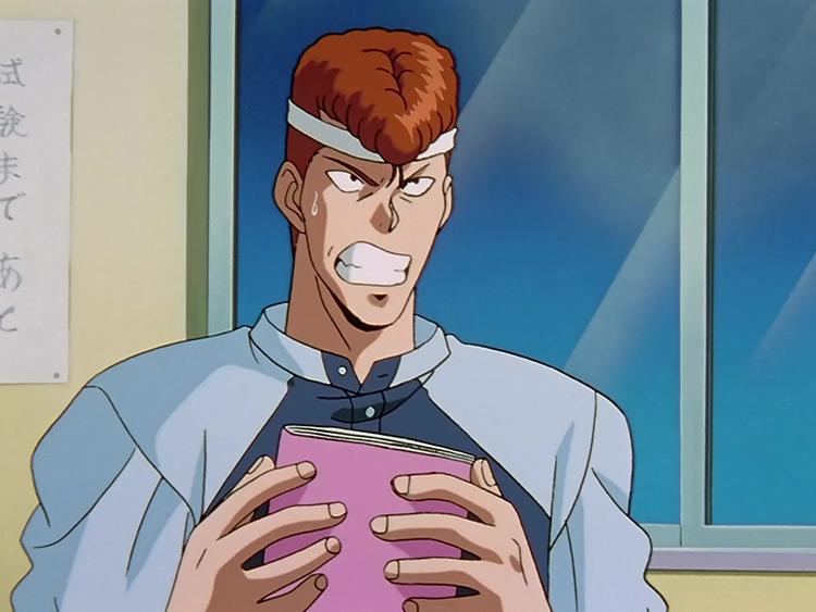 Kazuma Kuwabara Yu Yu Hakusho anime screenshot