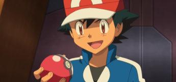 Ash Ketchum Holding a Poke ball / Pokemon Anime