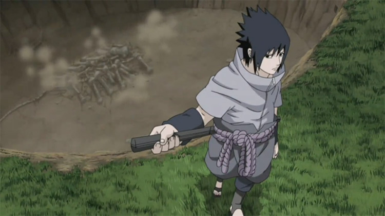 Sasuke Uchiha in Naruto: Shippuden anime