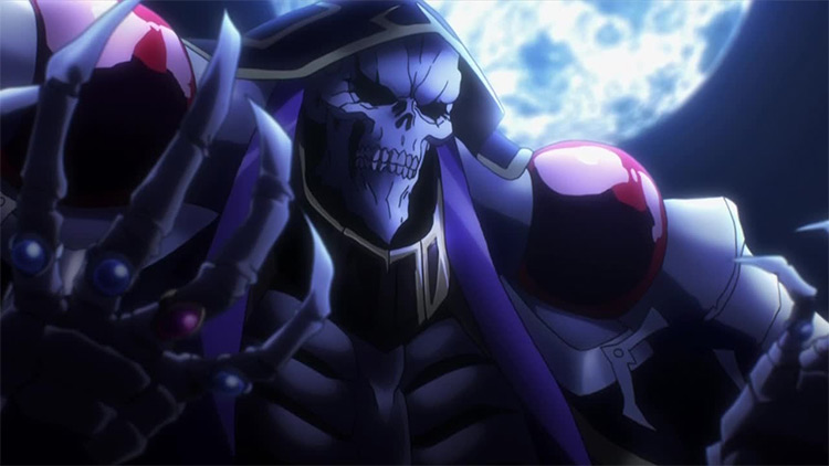 Momonga Overlord anime screenshot