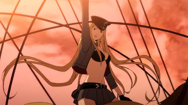 Bishamon Noragami anime screenshot