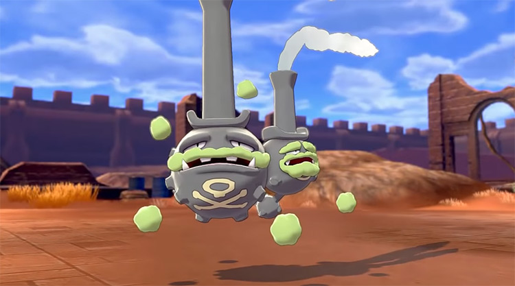Galarian Weezing in Pokémon Sword and Shield