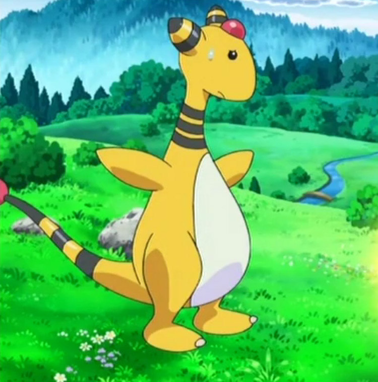 Ampharos Pokemon in the anime
