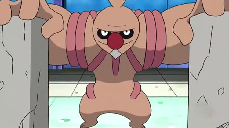 Conkeldurr Pokemon in the anime
