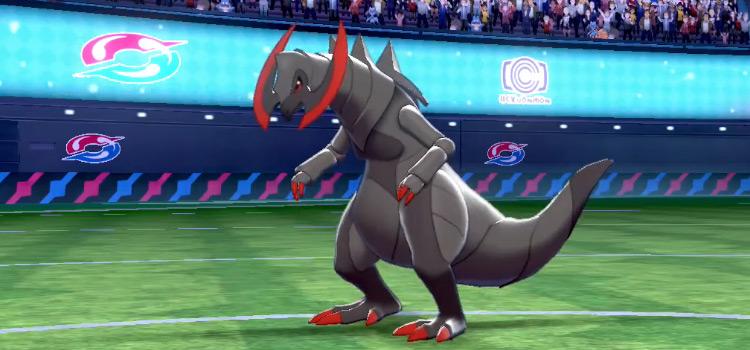 Shiny Haxorus Screenshot from Pokemon Sw/Sh