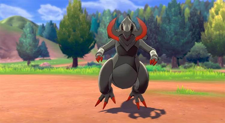 Shiny Haxorus Pokémon camp SWSH