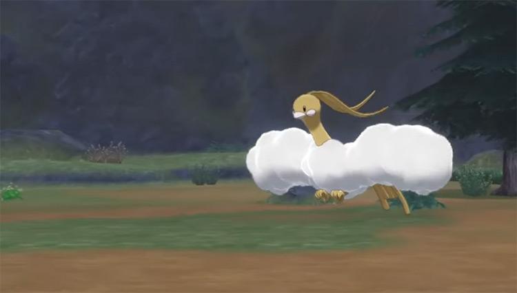 Shiny Altaria in Pokémon Sword and Shield