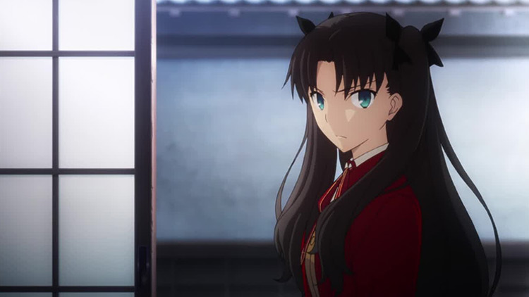 Rin Tohsaka in Fate/stay night: Unlimited Blade Works anime