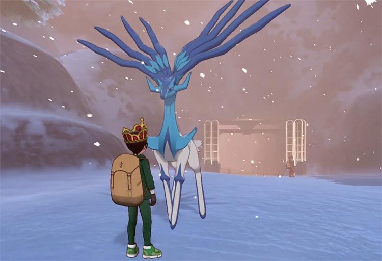 Shiny Xerneas in Pokémon Sword and Shield