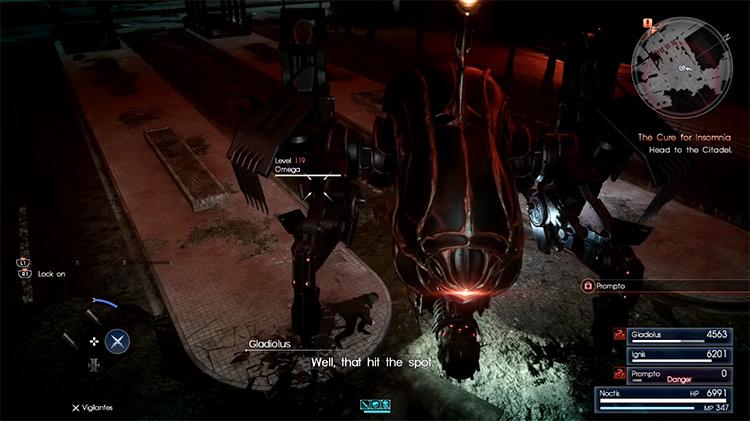 Omega FFXV boss battle