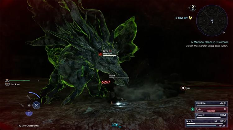 Manxom FFXV boss battle