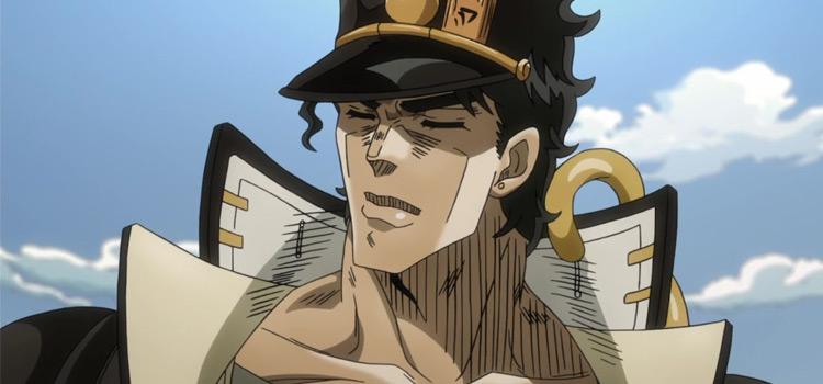 Jotaro close-up anime screenshot