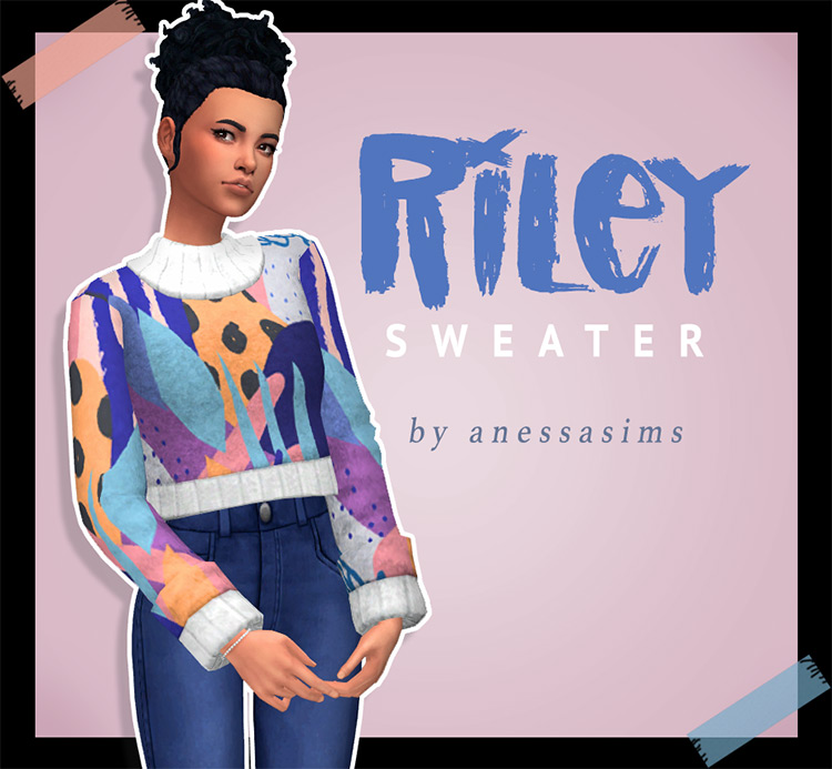 Riley Sweater for The Sims 4