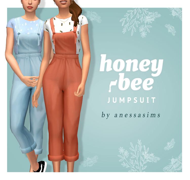 Honeybee Jumpsuit / Sims 4 CC