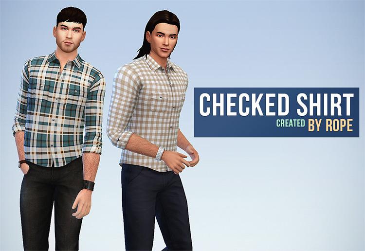 Checkered Shirt / Sims 4 CC