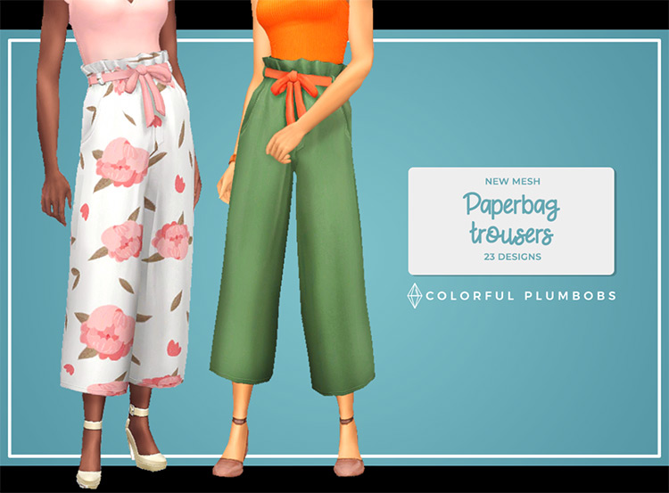 Paperbag Trousers for The Sims 4