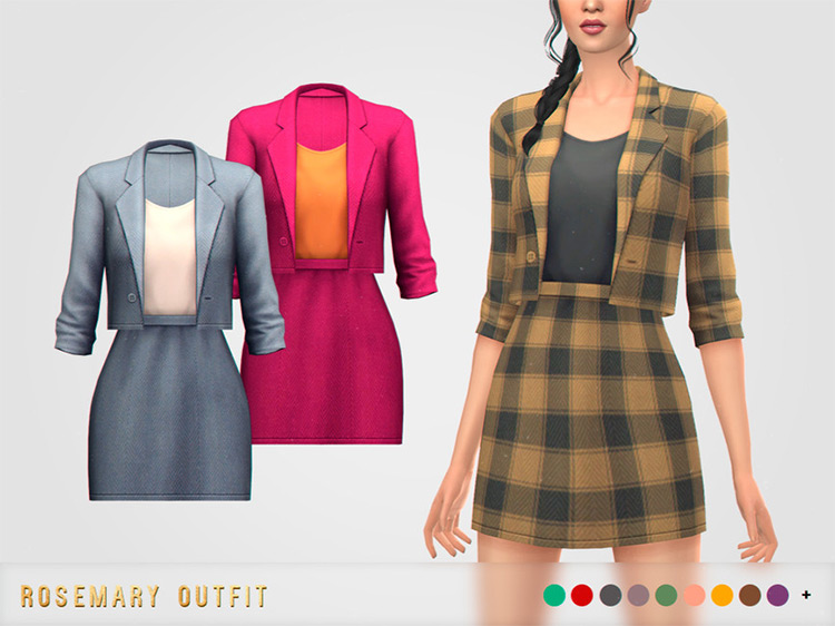 Rosemary Outfit / TS4 CC