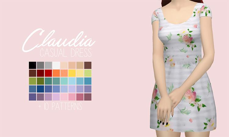 Casual Dress Design / Sims 4 CC