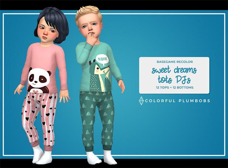 Sweet Dreams Tots Pajamas / TS4 CC