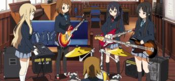 K-on girls in band anime screenshot