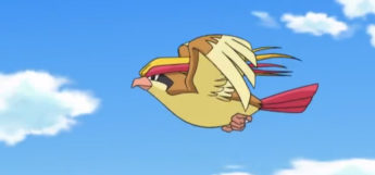 Pidget flying in the anime