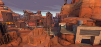 Badlands map in Team Fortress 2