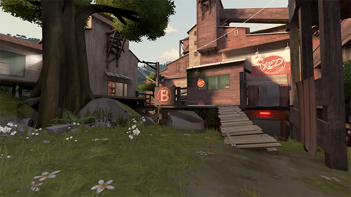 TF2 map cp_mossrock