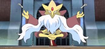 Mega Alakazam pokemon floating in the anime