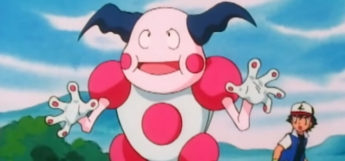 Mr Mime in the anime in battle