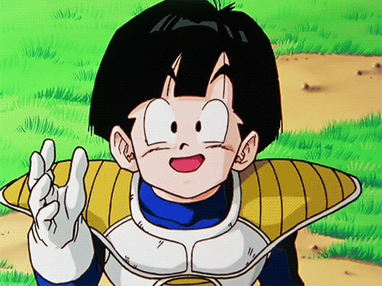 Gohan bowl cut in Dragon Ball anime