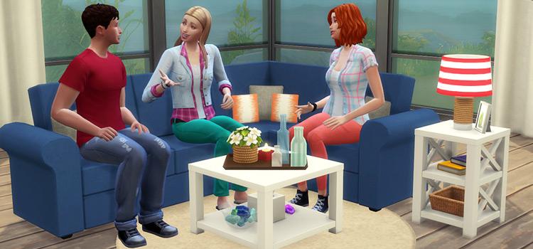 Sims 4 Sea Breeze Livingroom Set - TS4 Screenshot