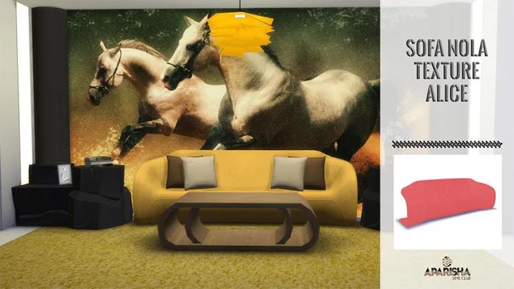 Nola Sofa CC in Sims 4