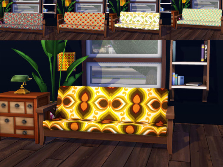 70's Sofa Style for Sims 4