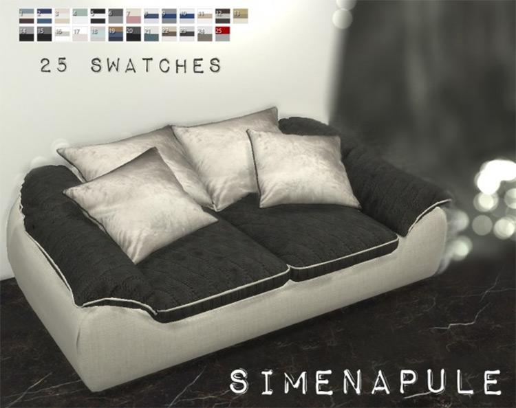 Ramea Sofa Custom Content for Sims 4