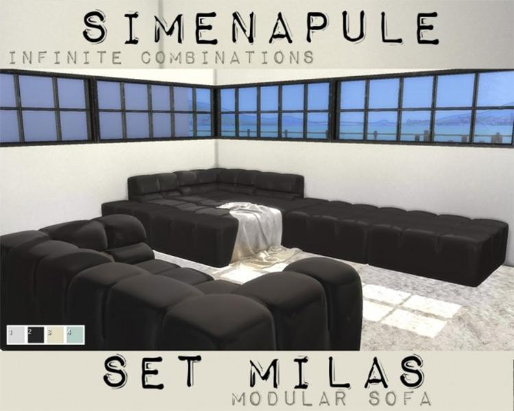 Milas Modular Sofa for Sims 4