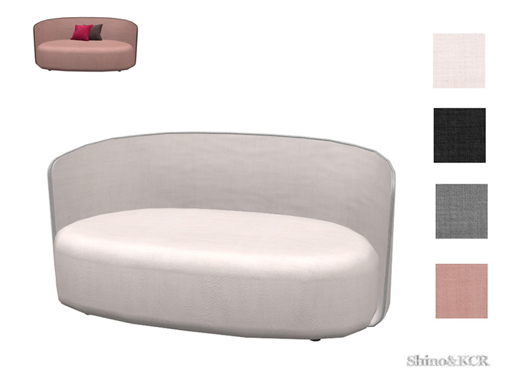 Living Christine Loveseat Couch CC for TS4