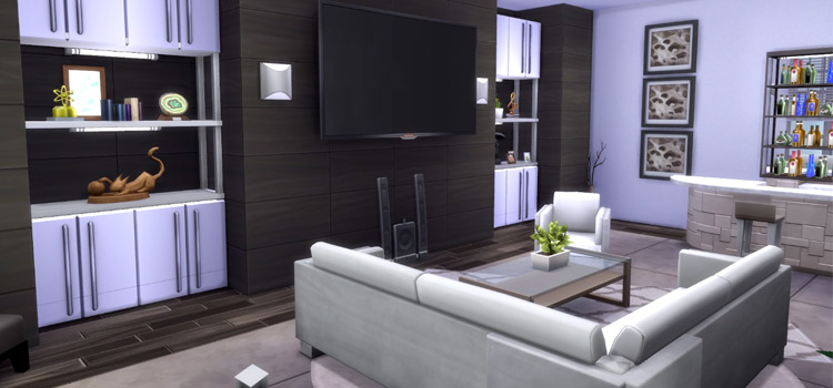 Modern Living Room screenshot from The Sims 4