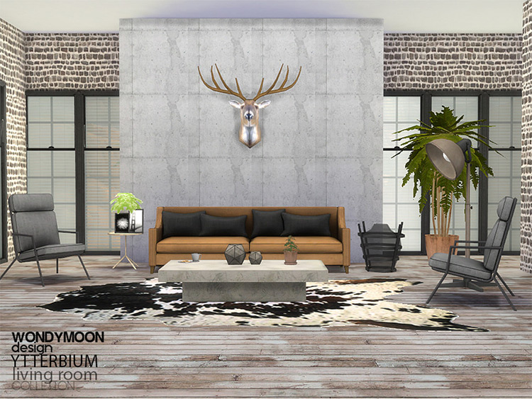 Ytterbium Living Room Set - Furniture CC